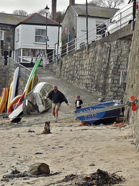 Mousehole harbour beach