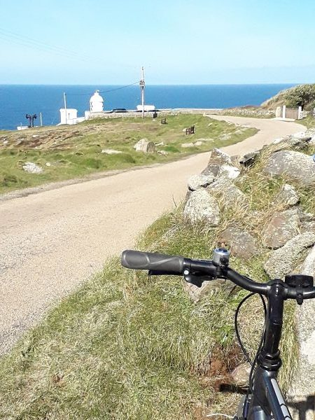 Road to Pendeen Lighthouse - cycle routes in the far South West of Cornwall