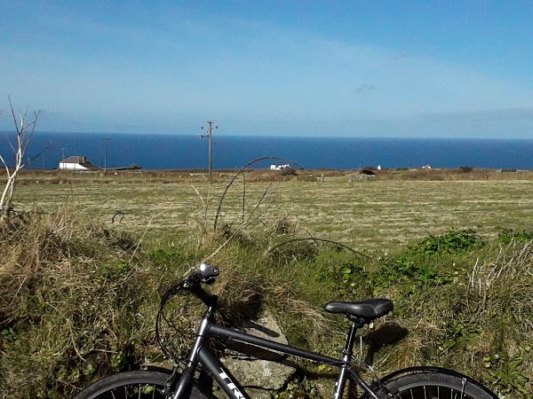 View from Calartha Cottages - cycle routes in the far South West of Cornwall