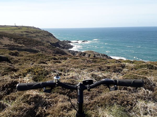 View of Geevor from Pendeen Lighthouse - cycle routes in the far South West of Cornwall