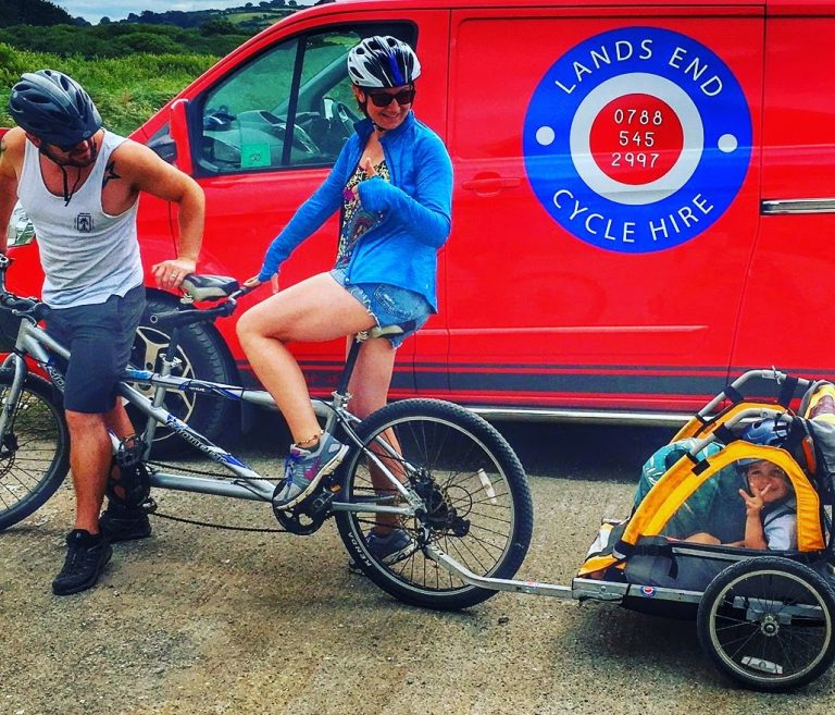 Cycle Hire Cornwall |Tandem and trailer